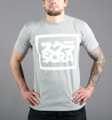 Front-Scramble-Split-logo-tee-Grey