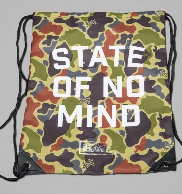State of No Mind Drawstring Bag - Detail