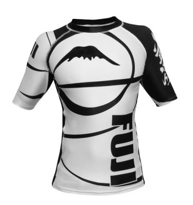 Fuji Sport Freestyle IBJJ Ranked Rashguard White Short Sleeve M